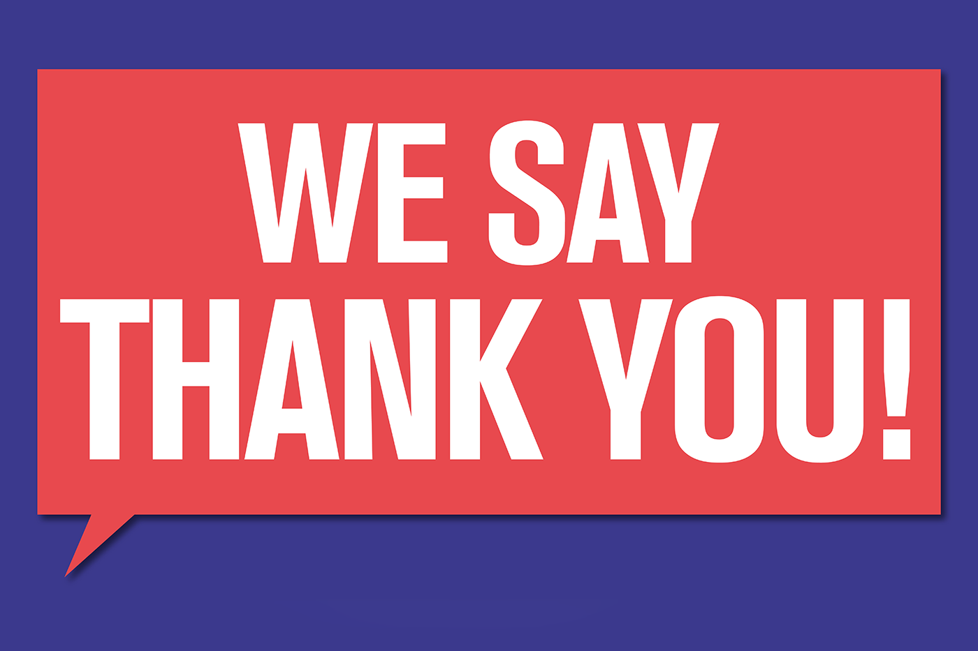 We Say Thank You - november theme